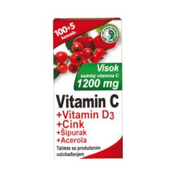 HERBAPHARMA Vitamin C + D3 + Zn + Šipurak + Acerola 105 tableta