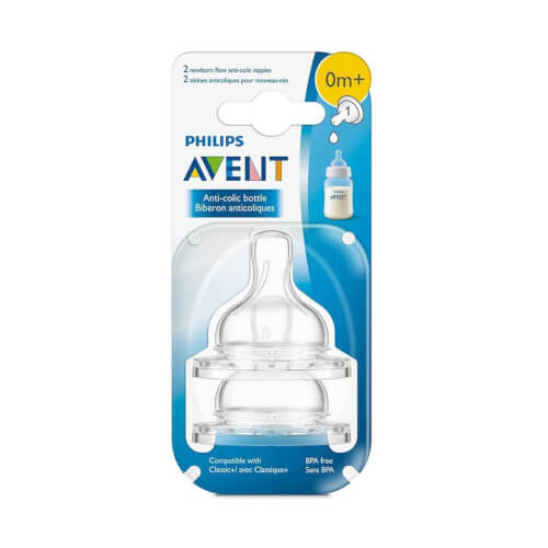 AVENT Sisač Classic Anti-colic 0+ 2 komada