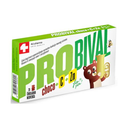 4U Pharma Probival choco + C + Zn 20 medvjedića