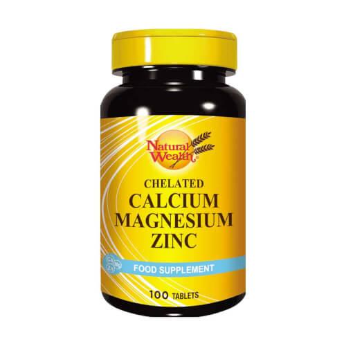 Natural Wealth Calcium Magnesium Zinc 100 tableta