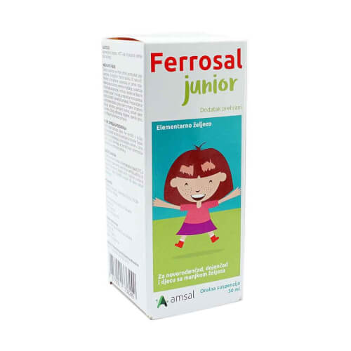 Amsal Ferrosal JUNIOR oralna suspenzija 50ml