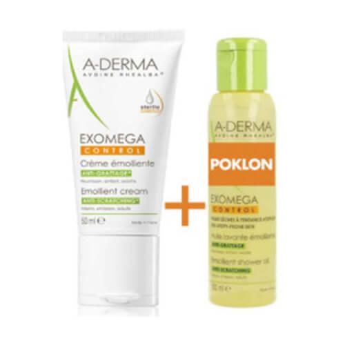 A-Derma Exomega Control emolijentna krema + ulje za tuširanje GRATIS 50ml + 100ml