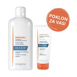 Ducray Anaphase+ šampon + Anaphase+ balzam GRATIS 400 ml + 200 ml