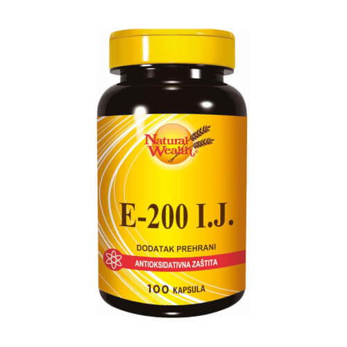 Natural Wealth Vitamin E-200 100 kapsula