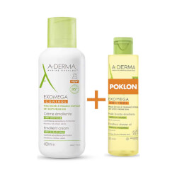 A-Derma Exomega Control emolijentna krema + ulje za tuširanje GRATIS 400ml + 200ml