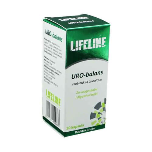 Lifeline URO-balans probiotik sa brusnicom 20 kapsula