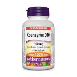 Webber Naturals Coenzyme Q10 100mg 60 kapsula