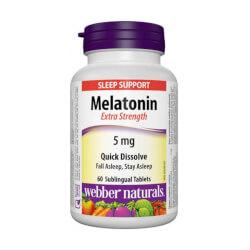 Webber Naturals Melatonin 5mg 60 sublingvalnih tableta