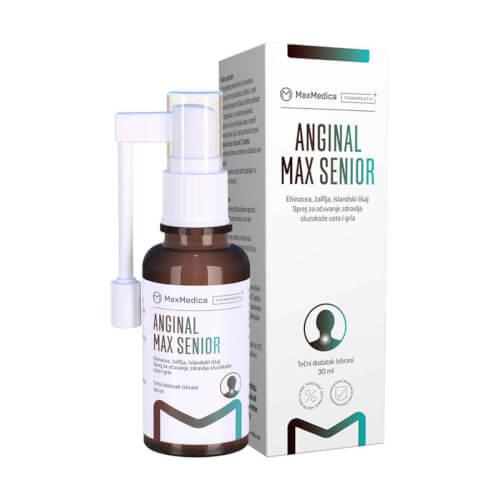 MaxMedica Anginal MAX Senior sprej za grlo 30ml