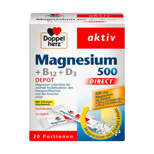 Doppelherz Magnezij 500 Direct 20 vrećica
