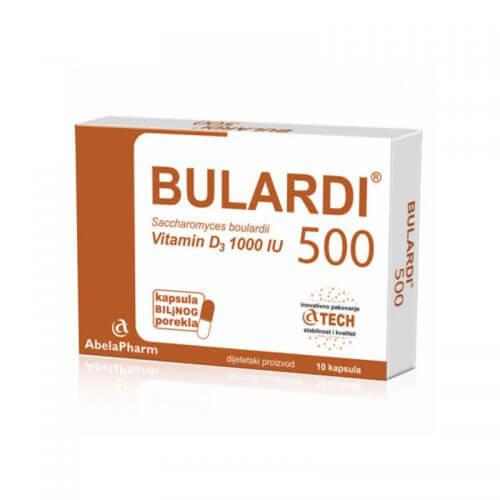 Abela Pharm Bulardi 500 + Vitamin D3 1000 IU 10 kapsula