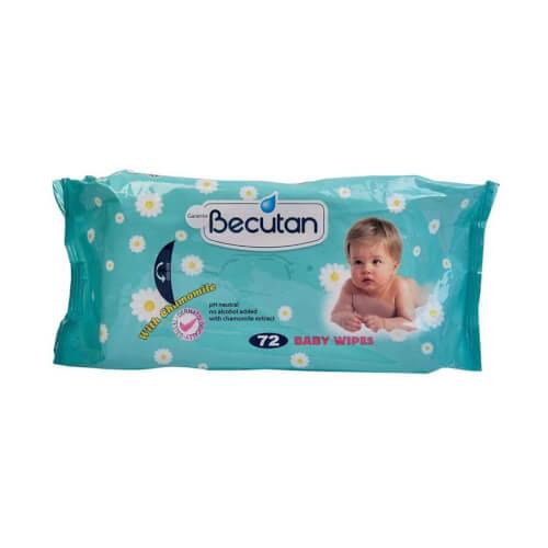 Becutan Baby Vlažne maramice A72 72 vlažne maramice