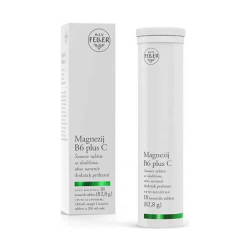 M.E.V. FELLER Magnezij  B6 plus C 18 šumećih tableta