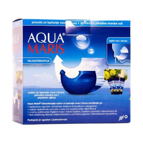 Jadran Galenski Laboratorij Aqua Maris sustav za ispiranje nosa i sinusa 1 posuda + 30 vrećica morske soli