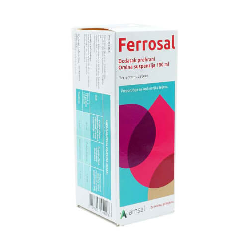 Amsal Ferrosal oralna suspenzija 100ml