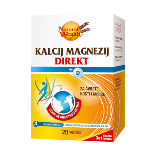 Natural Wealth Kalcij Magnezij + D direkt 20 vrećica