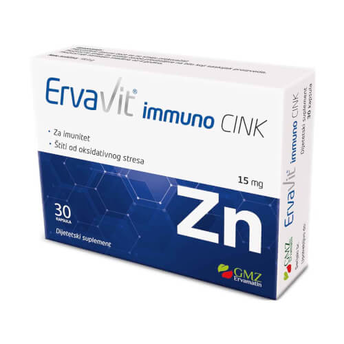 GMZ Ervamatin Ervavit immuno cink 15mg 30 kapsula