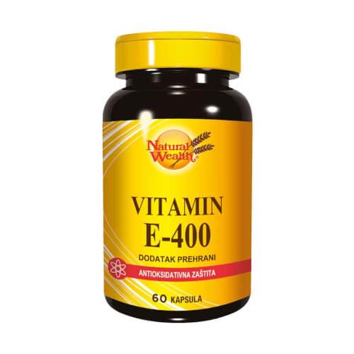 Natural Wealth Vitamin E-400 60 kapsula